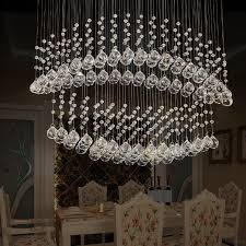 Oval Crystal Chandelier Led Dining Room Chandeliers Descargas Mundiales Com