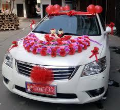 wedding ideas wedding car ribbon and bows simple wedding car