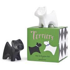 terrier salt u0026 pepper shakers modern dining jonathan adler