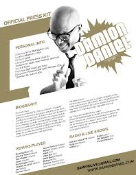 Host Resume Sample by Bio Damion Daniel