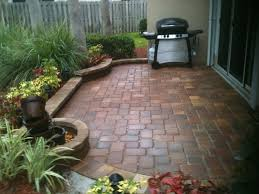 Paver Patio Diy Paver Patio In A Small Space Brick Bordered Planting Areas