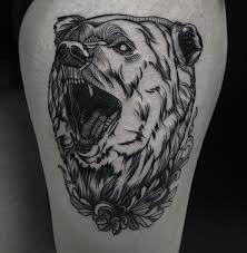 wonderful tattoo grizzly bear creativefan