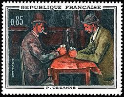 timbre bureau de tabac paul cézanne les joueurs de cartes musée d orsay