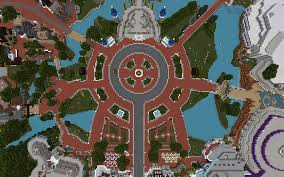 Magic Kingdom Map Orlando by Virtual Magic Kingdom Unofficially Reborn On Minecraft Theme