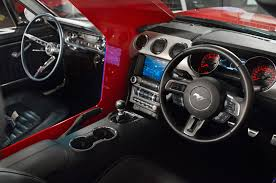 65 Mustang Interior Parts 1965 2015 Ford Mustang Mashup Shows 50 Years Of Automotive Advancement