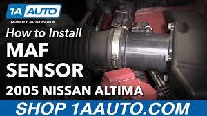 nissan maxima mass air flow sensor how to install replace mass air flow sensor and housing 2004 06