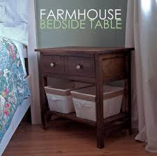 Build A Desk With Drawers Ana White Farmhouse Bedside Table Diy Projects