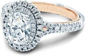 verragio wedding rings verragio halo engagement ring eng 0425ov tt