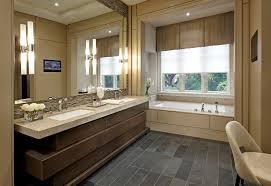 industrial bathroom vanity with white subway tile bathroom