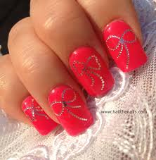 silver bows nail art water transfer decal wedding nails 1 99