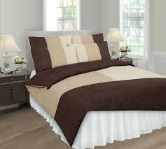 Brown Duvet Cover King Duvet Cover Sets King Size Bed More Views Suede Look Patch Printed