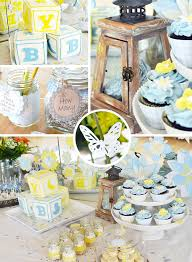 boys baby shower feature flowers boy baby shower dime party