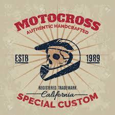 skull motocross helmet vintage motocross helmet with skull for printing with grunge