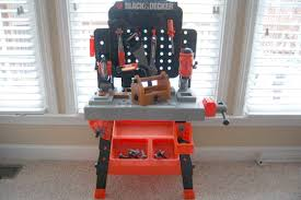Toddler Tool Benches - black and decker work bench for kids baby shower ideas