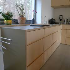 birch plywood kitchen and a yellow smeg by stonermakes cuisine