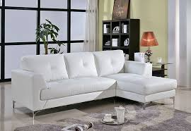 White Leather Sofa Sectional Modern Leather Sectional Sofa White Brilliant Modern Living Room