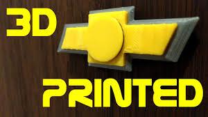 logo chevrolet 3d chevy logo fidget spinner 3d printed youtube