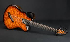 9 string fanned fret x20 8 string woody quilted maple vintage amber emerald guitars