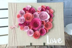 paper flower easy spiral paper flower heart canary crafts