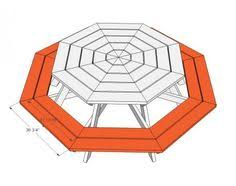 Free Woodworking Plans Hexagon Picnic Table by Picnic Table Plans Octagon Picnic Table Free And Easy Diy