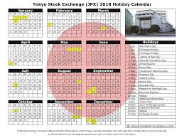 tokyo stock exchange 2017 2018 holidays jpx holidays 2017 2018