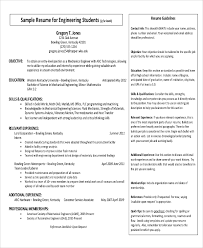 Samples Of Resumes For Students by Simple Student Resume Format 87 Awesome Simple Resume Template