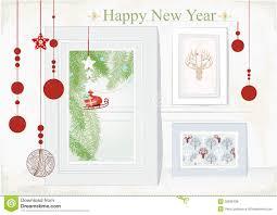 christmas cards themed christmas card with themed interior royalty free stock photos
