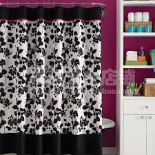 White Lace Shower Curtain by Pink And Black Shower Curtain Pink Black Shower Curtains Foter