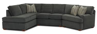 Microfiber Sectional Sofas by Klaussner Hybrid Sectional Sofa With Left Facing Sofa Chaise
