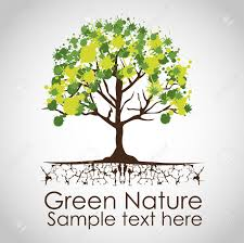 tree creative with green paint stains royalty free cliparts