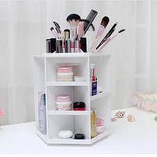 degree rotating storage box case plastic cosmetic jewelry