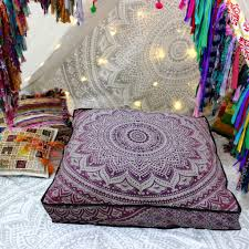 hues of purple bright pink with touch of purple hues floor pillow cover u2013 kraftdirect