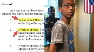 clock kid u0027 ahmed mohamed sues family wants 15m in damages from