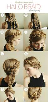 heatless hairstyles for thin hair hairstyle for thinning hair women halo braid hair style and crown