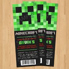 minecraft birthday invitations best minecraft invitation products on wanelo