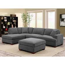 Sectional Sofas Uk Kellen 3 Grey Fabric Sectional Sofa With 2 Accent Pillows