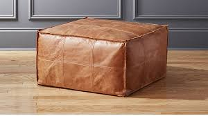 brown leather square ottoman leather square ottoman coffee table for prepare 10 weliketheworld com