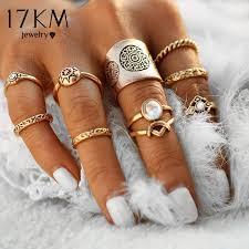 finger rings pictures images 17km new 9 pcs set vintage silver color ring sets antique midi jpeg