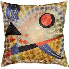 kandinsky abstract silk throw pillow cover composition 18 u2033 x 18