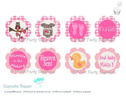 baby shower cupcake toppers u print party supplies