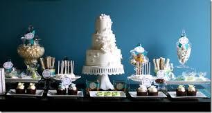 Cheap wedding cake table decorations ideas