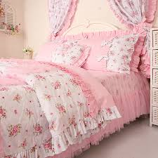 Duvet Bed Set Free Shipping Princess Lace Ruffle Floral Bedding Sets Kids Soft