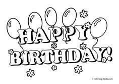 happy birthday color pages activity shelter coloring pages