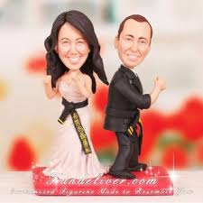 karate cake topper martial arts artists wedding cake toppers