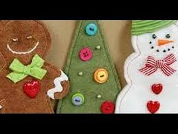 how to make felt christmas ornaments youtube