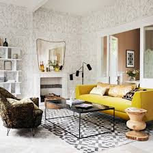 yellow livingroom grey and yellow living room design modern house