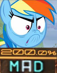 Rainbow Dash Meme - rainbow dash mad meme by dj xyclone on deviantart