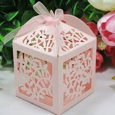 wedding favor boxes 2017 laser cut favor candy gift boxes with ribbon for wedding