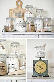 nice kitchen storage solutions with pretty glass jars creative