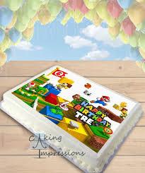 mario cake topper mario 3d land mario edible frosting image cake topper sheet